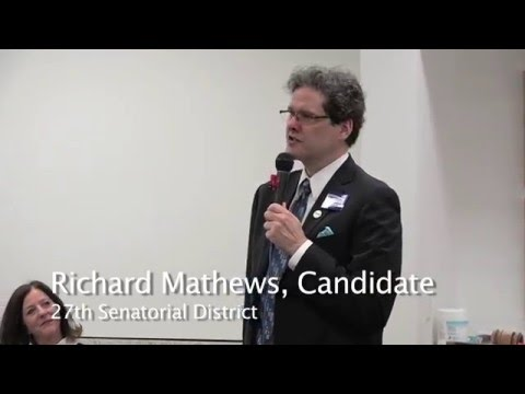 Richard Mathews, Democratic Candidate Intro for 27th District US Senate Seat