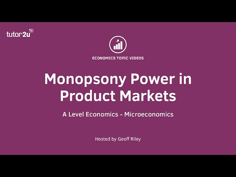 Monopsony Power in Markets