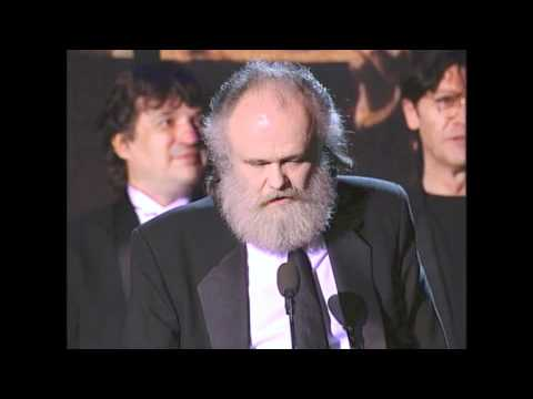 Members of The Band Accept Rock and Roll Hall of Fame Award at 1994 Inductions