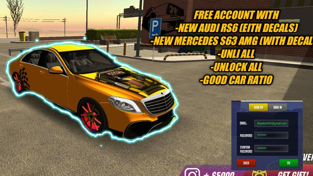 Free Account Car Parking Multiplayer Car Parking Multiplayer Free Account 4 7 0 Youtube