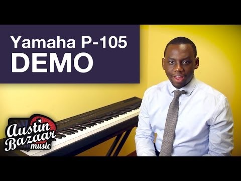 yamaha p 105 digital piano demo austin bazaar youtube. Black Bedroom Furniture Sets. Home Design Ideas