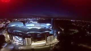 Rolling Stones Concert Stage Setup Adelaide Oval Aerial View (Drone footage)