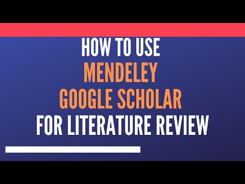 Webinar:  Build Search Strings in Mendeley and Google Scholar for Research Literature
