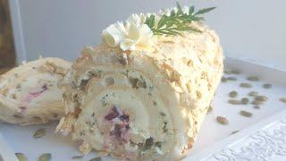 Воздушный меренговый рулет😍вкусно и быстро😍meringue cake roll #меренговыйрулет #янабенрецепты