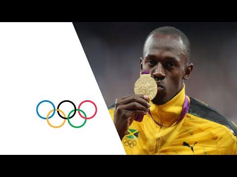 Usain Bolt Receives 100m Gold Medal