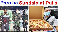 PIZZA AT ICE CREAM PARA SA SUNDALO AT PULIS