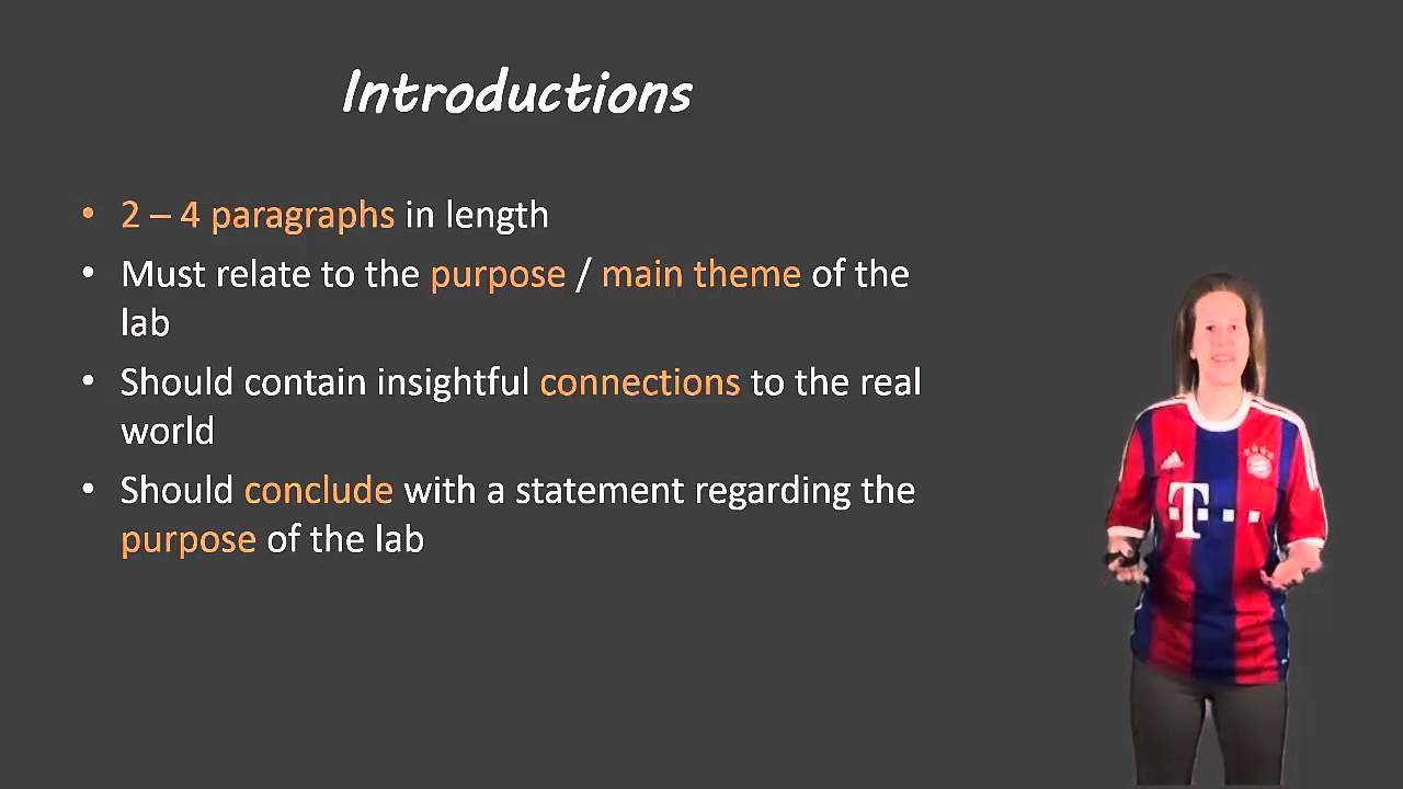 what should be in a introduction