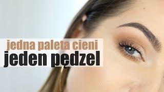 MAKIJAŻ DZIENNY TYLKO JEDNYM PĘDZLEM I JEDNĄ PALETĄ CIENI | Milena Makeup