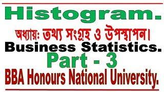 Histogram Bangla Tutorial 1, Business Statistics, By Lecturer Md Mostafizur Rahman.