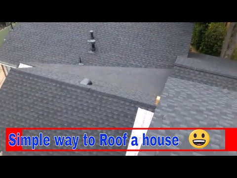 The best way to waterproof a low slope roof , valley areas , shingles, repair, fix , the best video.