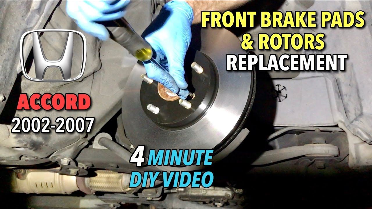 Honda Accord Front Brake Pads U0026 Rotors Replacement 2002 2017   4 Minute DIY  Video