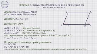 Геометрия 8 класс. Площадь параллелограмма