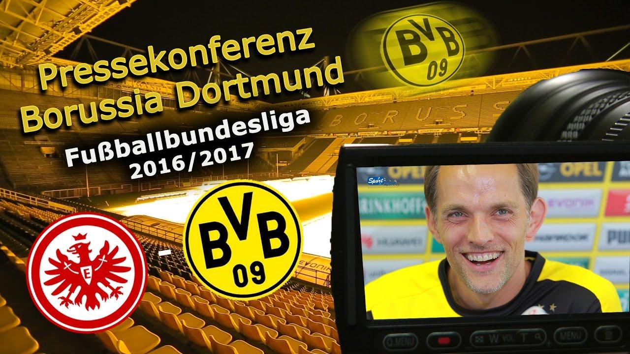 SG Eintracht Frankfurt - Borussia Dortmund: Pk mit Thomas Tuchel