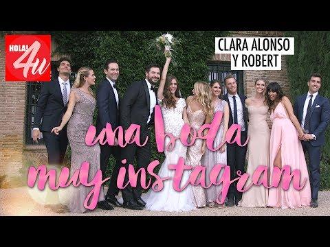 Clara Alonso y Robert: Una boda muy Instagram