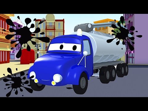 Tyson the Tanker and his friends in Car City 🚗 Tom the Tow Truck, Car Partrol, Carl Transform