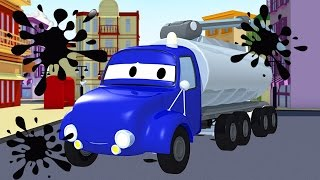 Tyson the Tanker and his friends in Car City : Tom the Tow Truck, Car Partrol, Carl Transform
