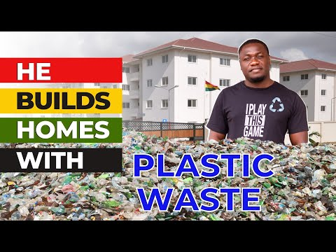 Man sets to END homelessness by building HOMES with recycling Plastic waste.....