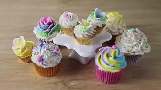 How to Make Mini Floral Cupcakes | Sneak Peak | Global Sugar Art