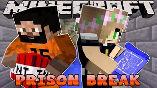 Minecraft - Prison Break : LITTLE KELLY EXPLORES THE PRISON SEWERS!