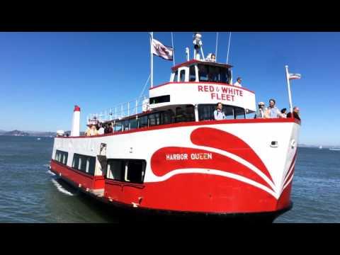 """Harbor Queen"" Ferry Red & White Fleet Arrival San Francisco California [Hyperlapse]"