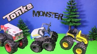 MONSTER TRUCKS Tonka Monster Trucks TheEngineeringFamily Toys Video