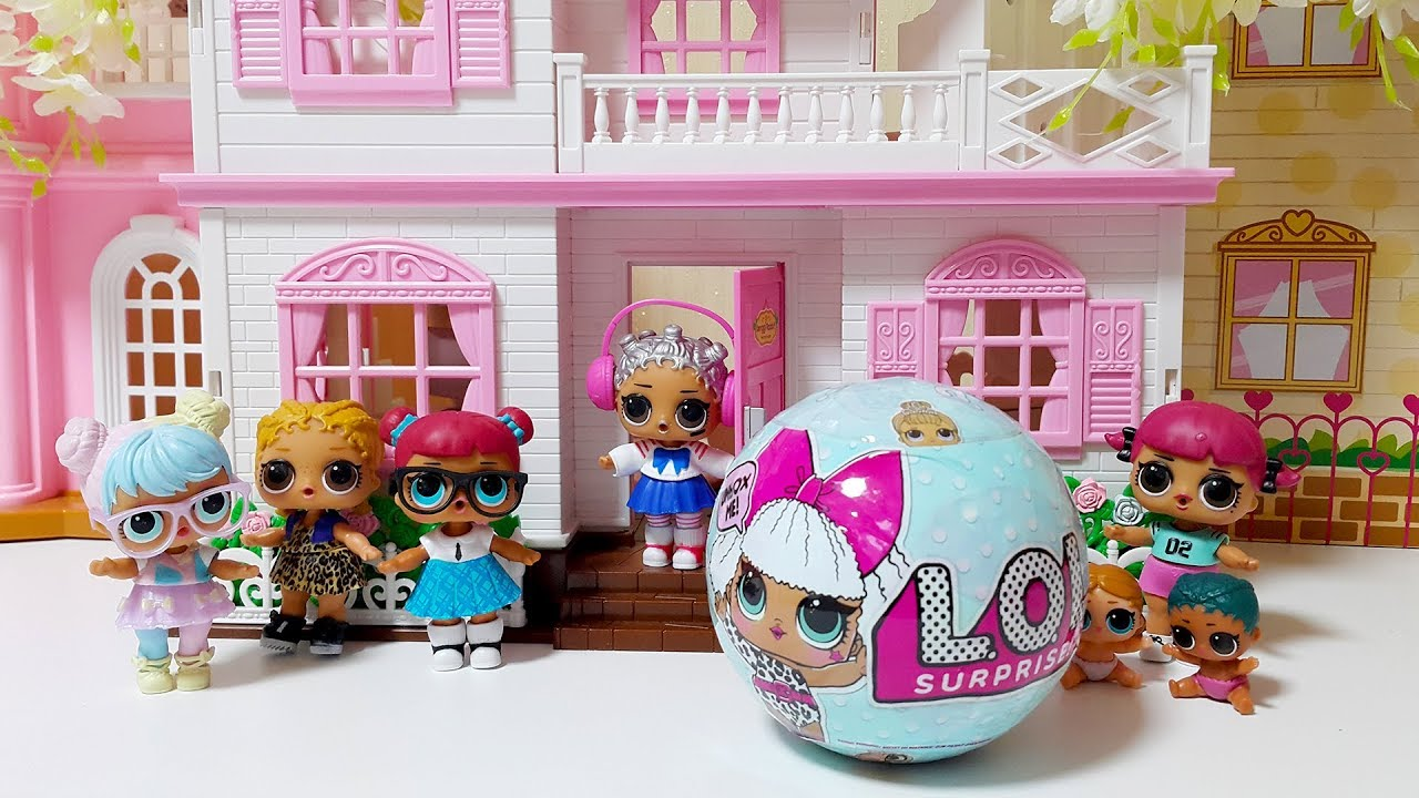 Lol Surprise Dolls Lil Sisters In Pink House