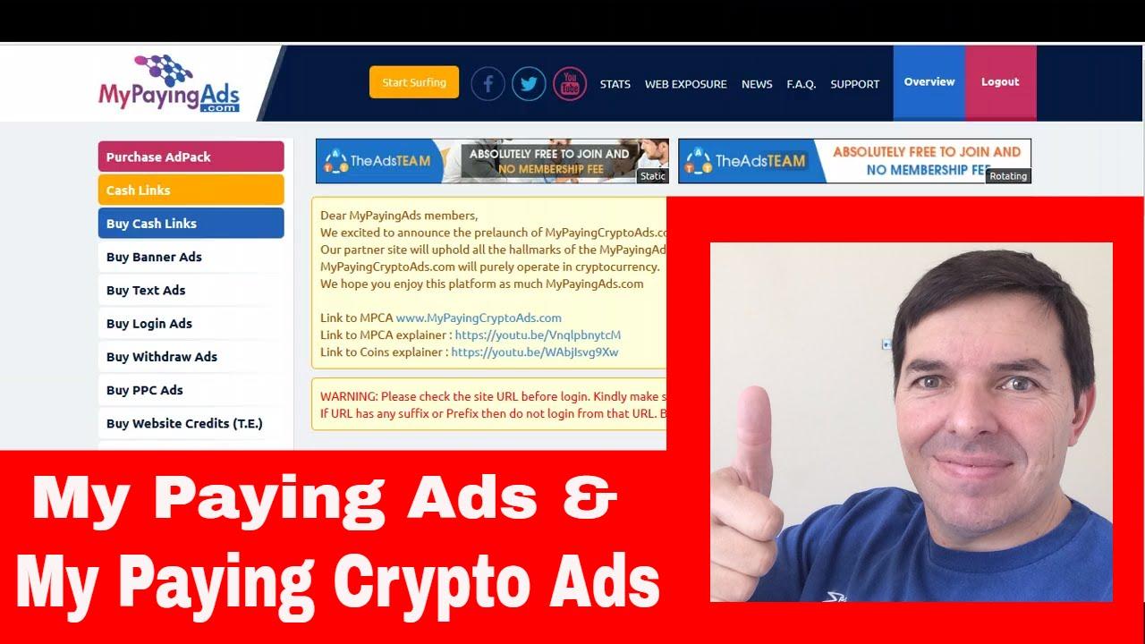 my paying crypto ads login