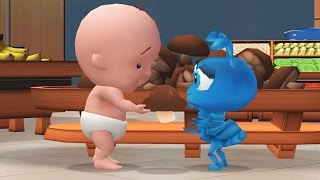baby learn to be polite in supermarket fun and educational game for kids