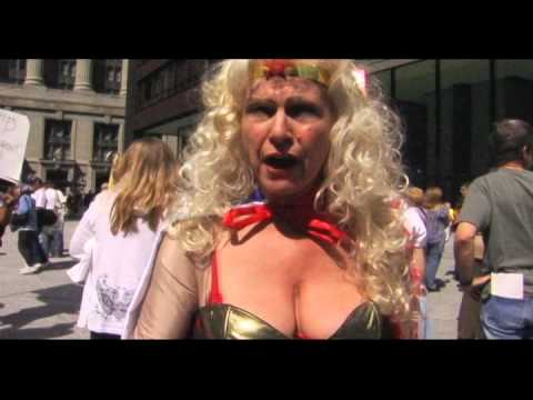 Tea Party Tax Day Rally 2010 - Wonder Woman