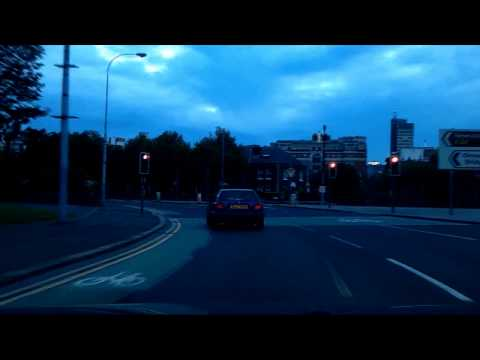 Driving around Belfast