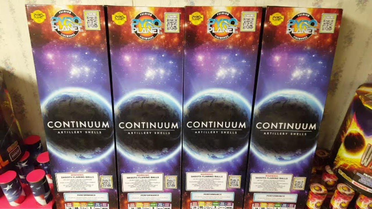 Fireworks Demo (Canister Shells) - Continuum (Pyro Planet) - 6 Demos (Shells) - Plus A Bonus Clip!!