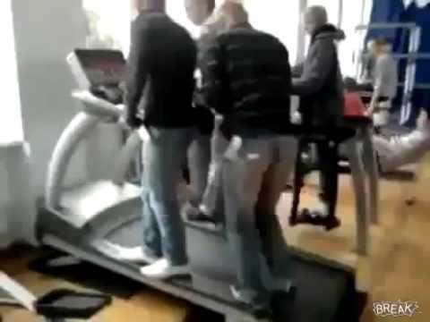 Подборка смешных фейлов в спортзале - YouTube