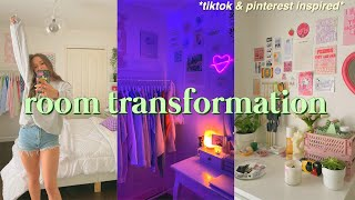 EXTREME ROOM TRANSFORMATION + TOUR 2021 !! *aesthetic/tiktok/pinterest inspired*