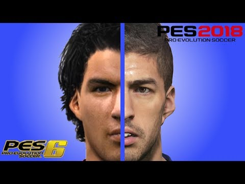 Suarez Face Evolution From PES 6 To PES 2018