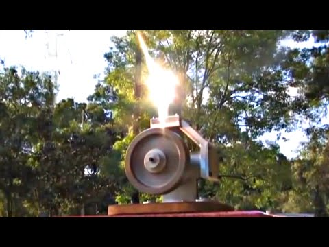 Stirling Engine Solar Fresnel Lens Powered Alpha Hot Air Mot