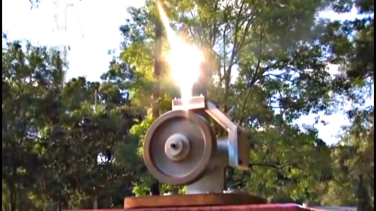 Stirling Engine Solar Fresnel Lens Powered Alpha Hot Air Motor Andy Ross Greenpowerscience Youtube