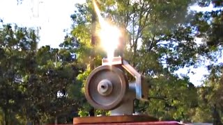 Stirling Engine Solar Fresnel Lens Powered Alpha Hot Air Motor Andy Ross GreenPowerScience