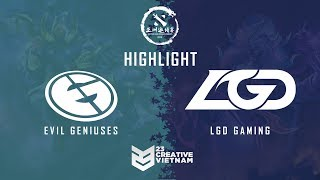 Highlight DAC 2018 | EG vs LGD Gaming - Bo3 | Main Event Day 2