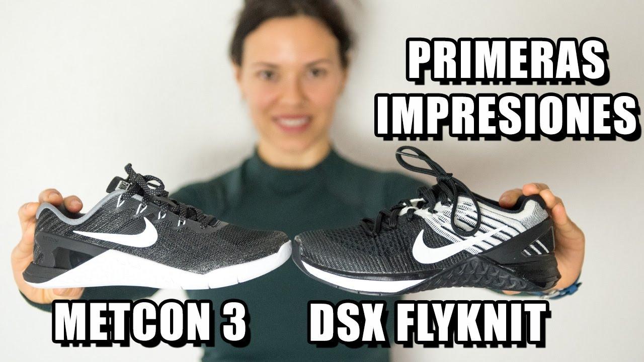 Primeras impresiones Nike Metcon 3 y Metcon DSX Flyknit