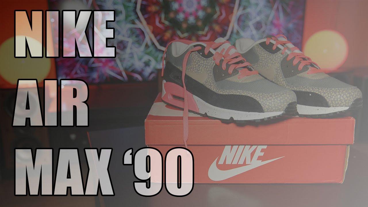593e1d37a3 Nike Air Max 90 Unboxing + On feet + Skateboard [4K] - YouTube