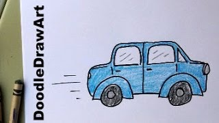How To Draw A Car For Kids!  Learn To Draw This Car, Easy, Step-by-step For Beginners.