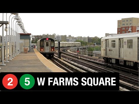 NYC Subway: West Farms Square (2) and (5) Trains