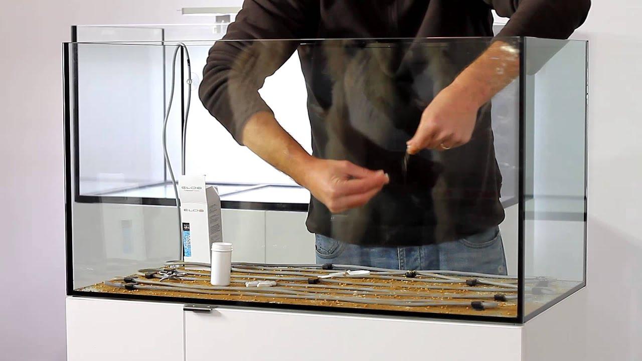 Setup a bottom system for a planted aquarium