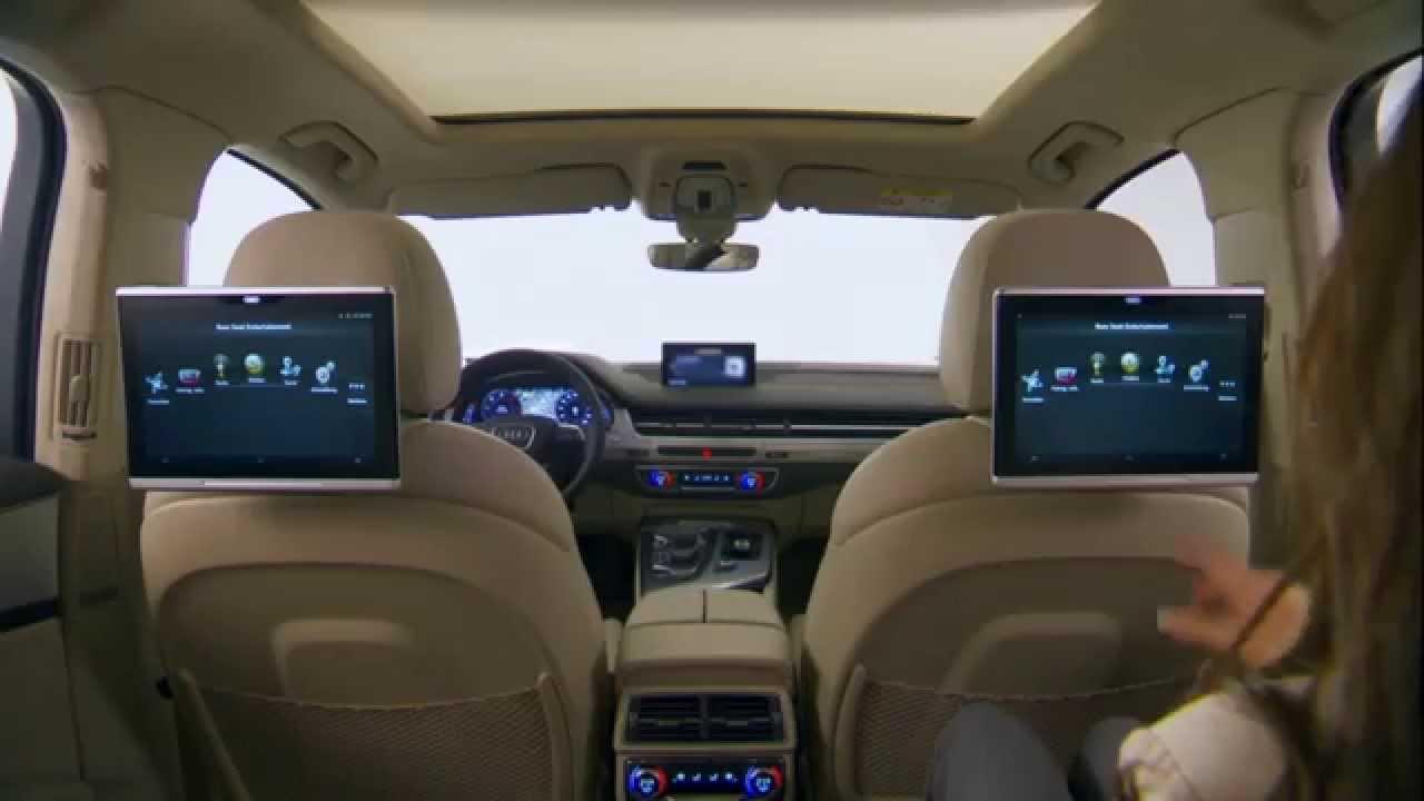 Audi Q7 Mmi Und Infotainment Rear Seat Entertainment
