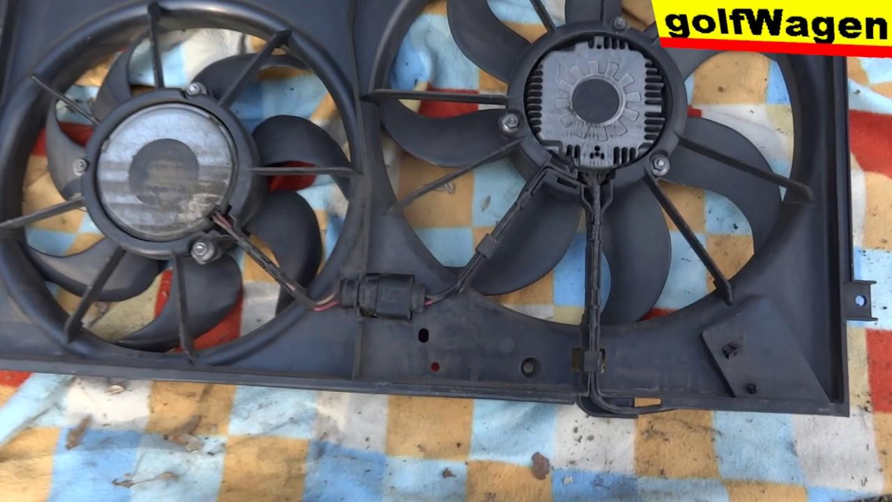 medium resolution of vw golf 5 1 9 tdi how to change radiator fan cooling motor 100 full time in detail