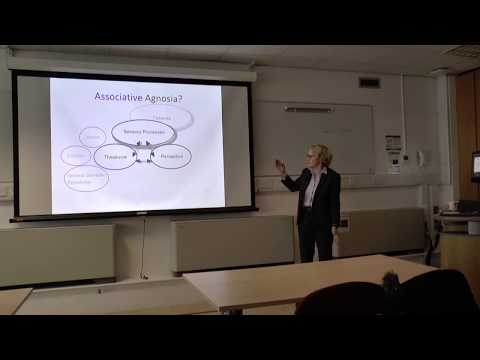 Prof Rosaleen McCarthy - Seeing without meaning: The breakdown of visual semantics
