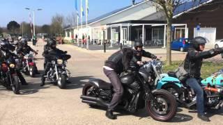 Goodfellas Rotterdam openingsrit 2016 vertrek na de lunch Camping de Quack Hellevoetsluis.