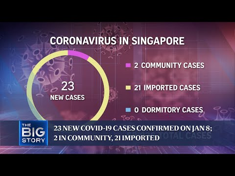 23 new Covid-19 cases confirmed on Jan 8; 2 in community, 21 imported | THE BIG STORY thumbnail