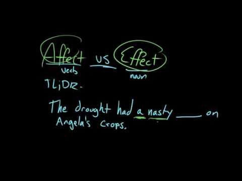 Affect and effect | Frequently confused words | Usage | Grammar