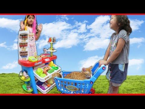●普段遊び●お買い物ごっこ遊び♡まーちゃん【5歳】おーちゃん【3歳】Shopping pretend play
